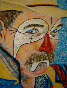 Rodeo Clown Face Art