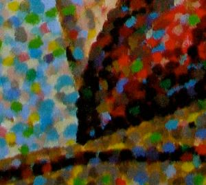 Closeup of Classical Pointillism