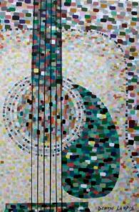 """Rhythm Guitar  24 x 36""""  1500.00"""