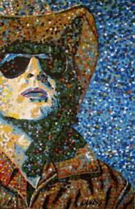 Pointillism Modern Cowboy